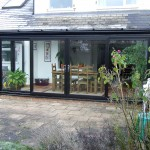 Black PVC Lean-to Conservatory