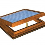 Golden Oak Electric PVC Roof Vent