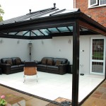 Black PVC Orangery with Bifold Doors