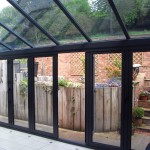 Black PVCu Lean-to Interior