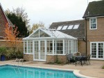 T shape gable roof conservatory