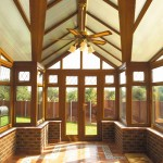 T shape gable roof conservatory interior