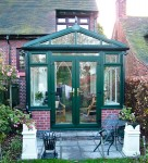 Green gable roof conservatory