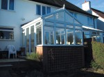 Gable roof conservatory
