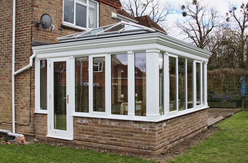 pvc orangeries with elegant moulded fascia hallmark conservatories