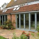 Green Aluminium Conservatory - Garden Room Style