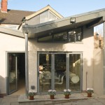 Light Green Contemporary Aluminium Sun Room outside
