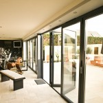 Grey Contemporary Aluminium Sun Room outside
